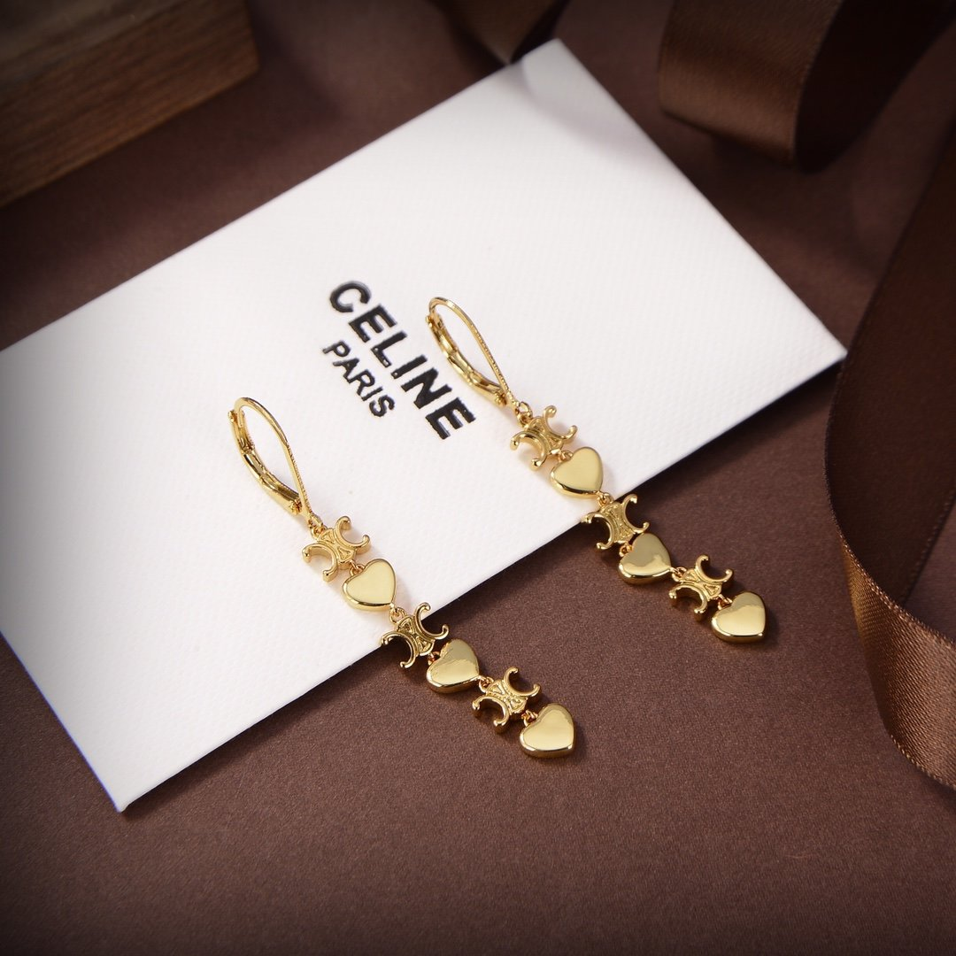 Celine新款凯旋门艺术感十足耳环