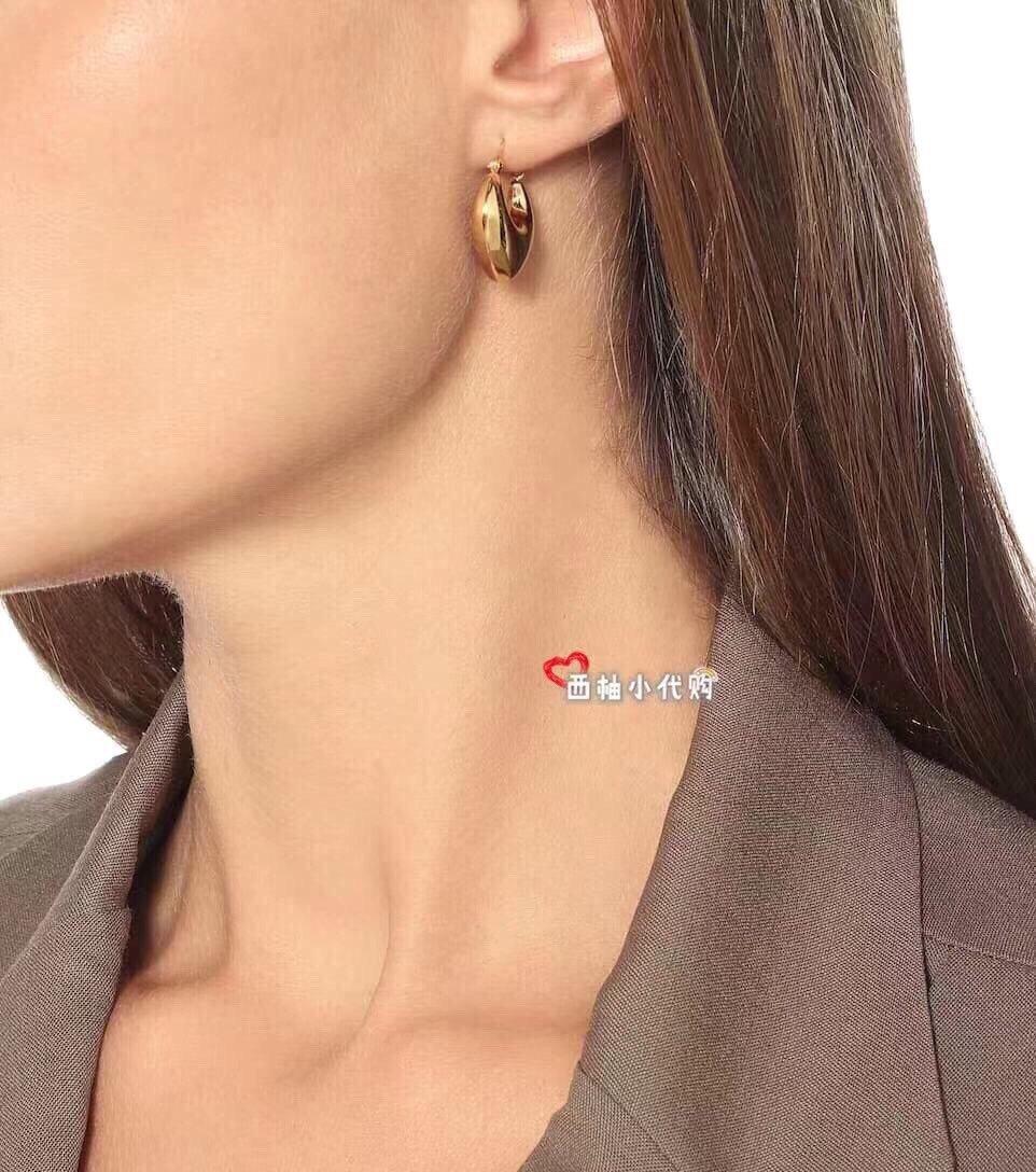 Celine新款艺术感十足耳环黄铜材