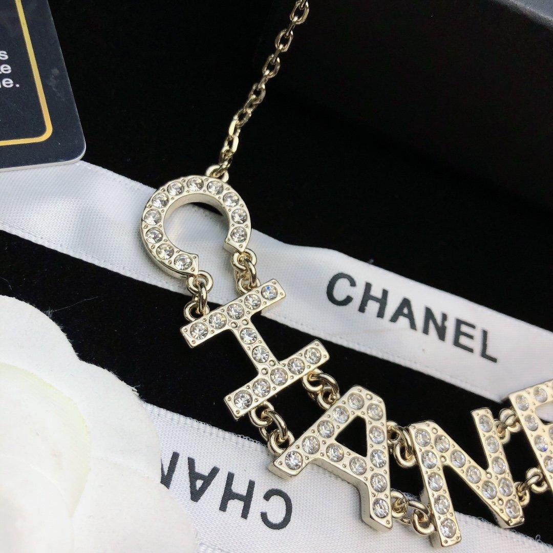 新款Chanel香奈儿中古双C项链小