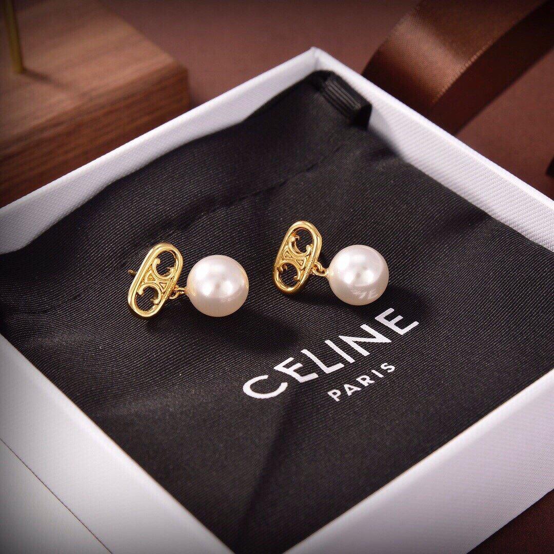 Celine新款艺术感十足凯旋门珍珠