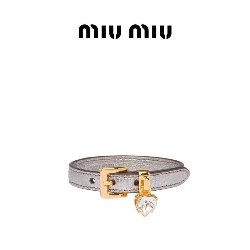 miumiu谬谬牛皮手链专柜同步原版