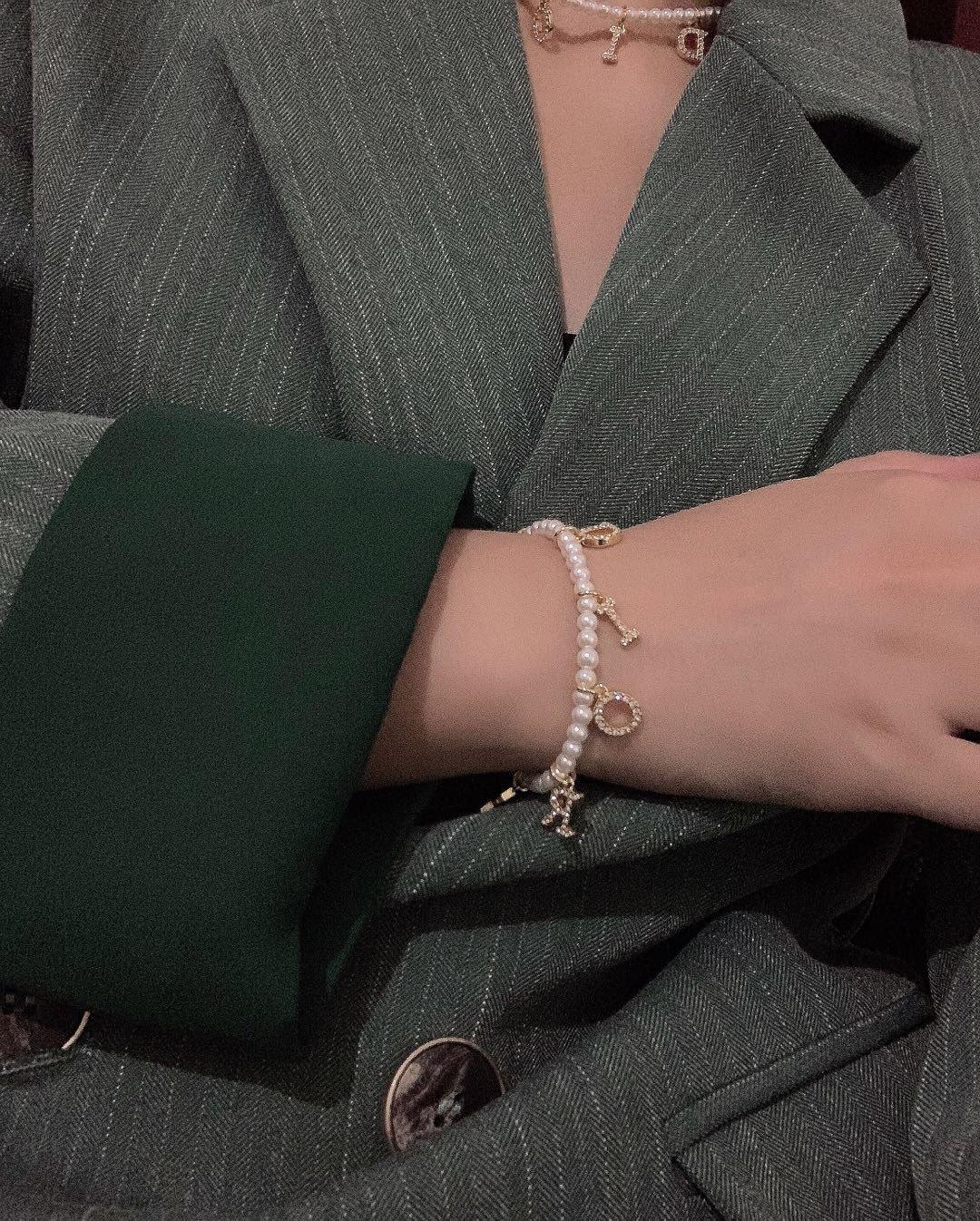 项链手链-10Di0r新款珍珠字母项