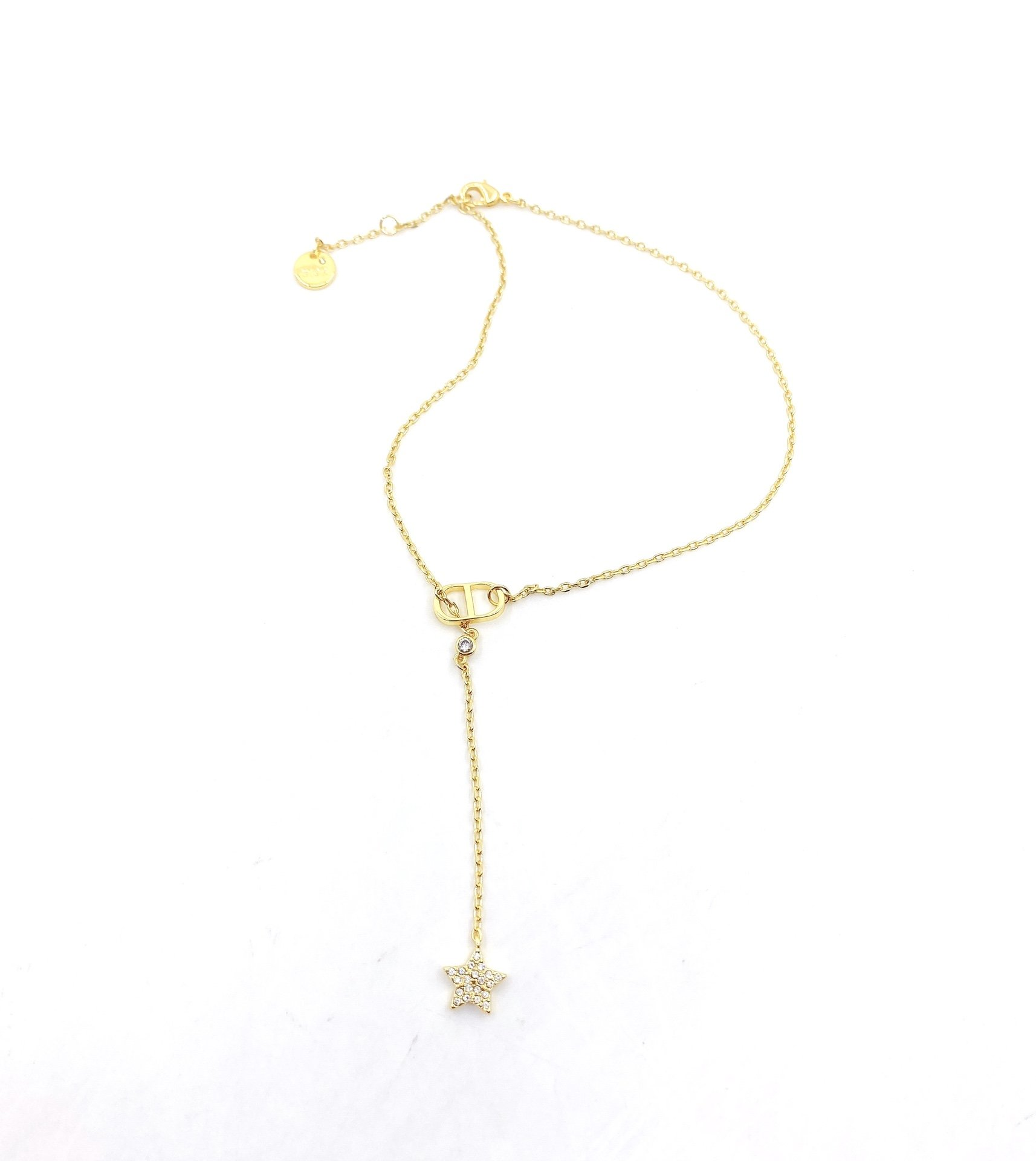 Dior新款项链一致黄铜材质
