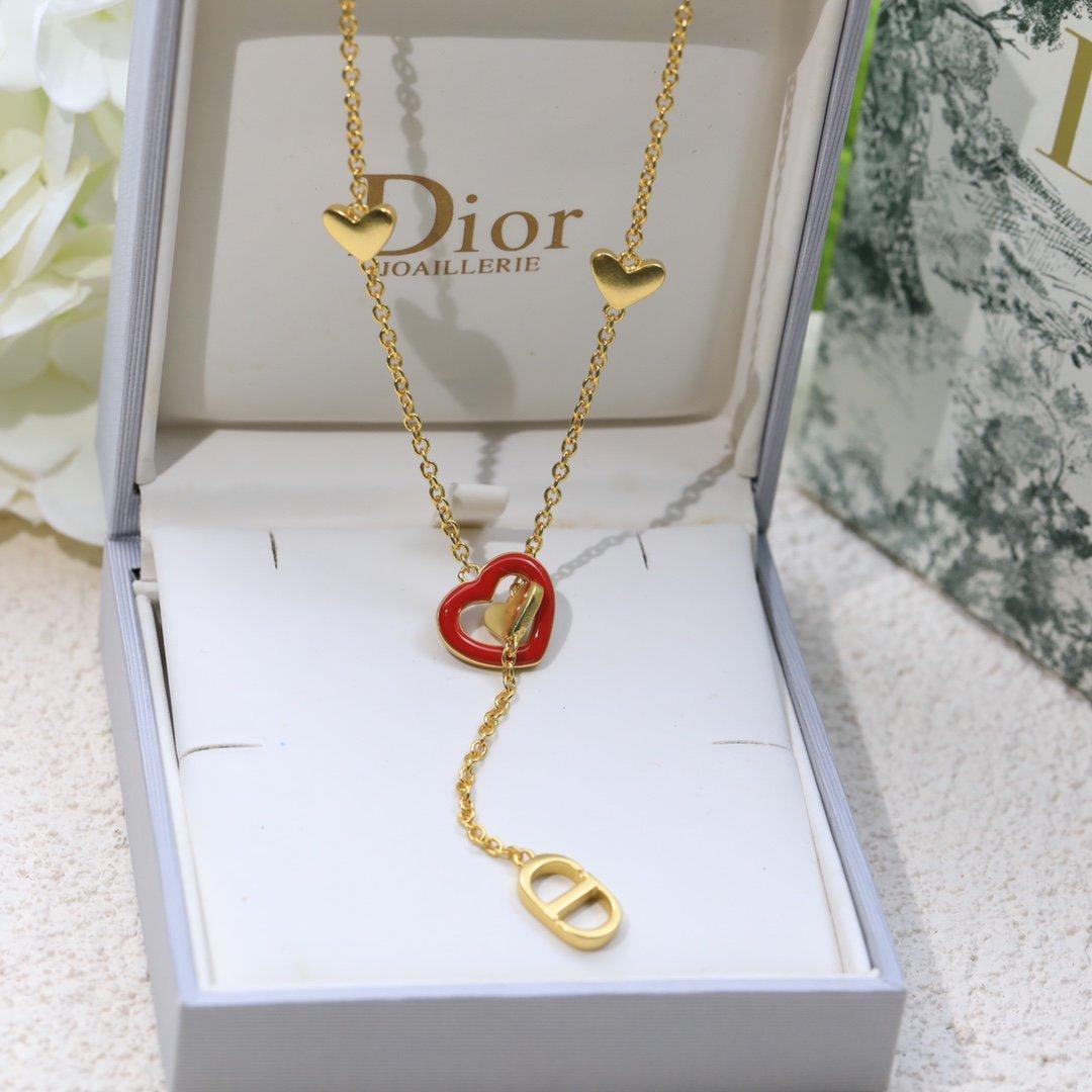 迪奥红心项链Dior项链本季度最火爆