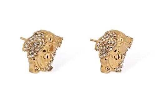 Versace范思哲美人头设计耳钉美