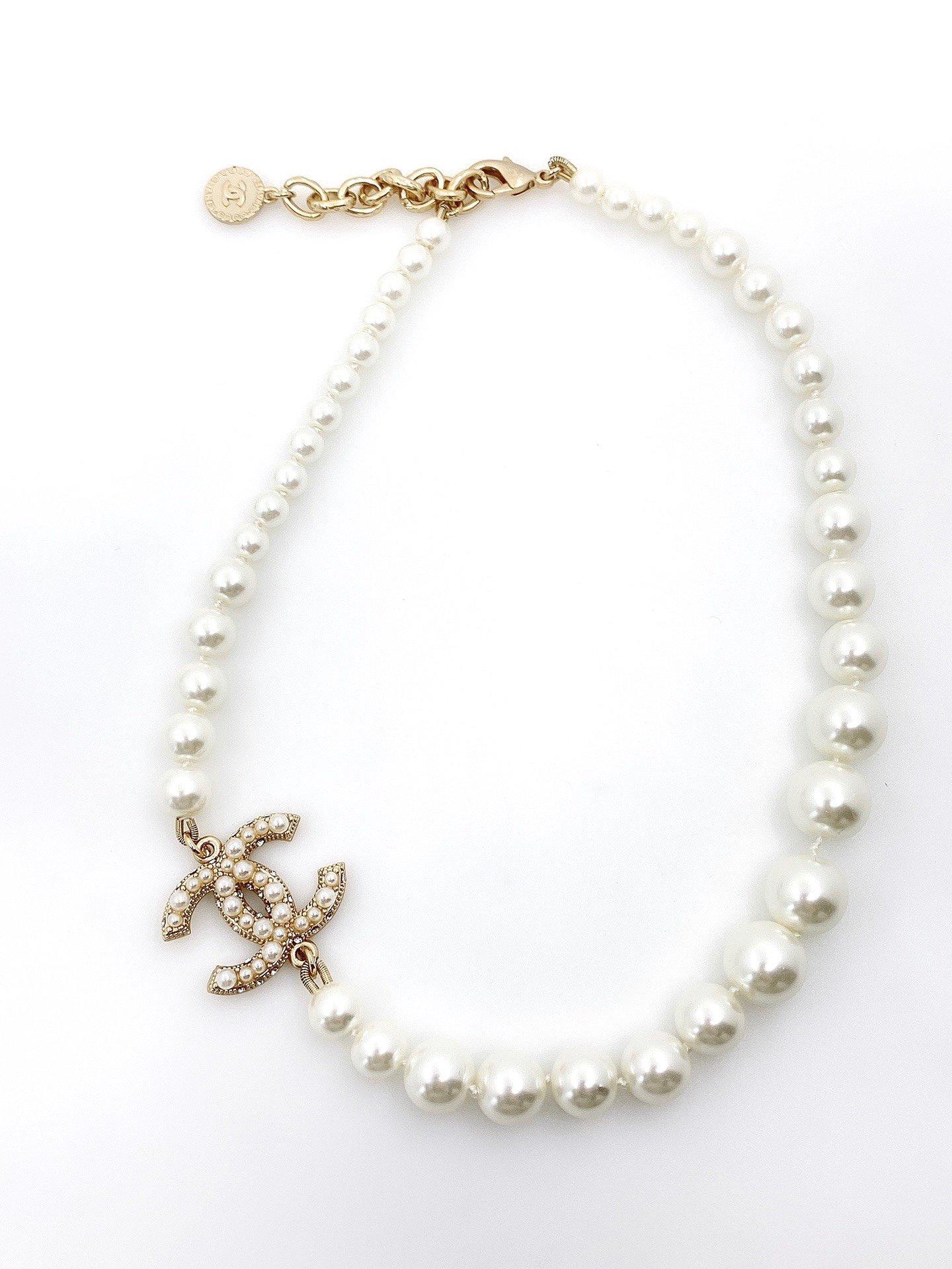 CHANEL小香大小珍珠双c项链高端