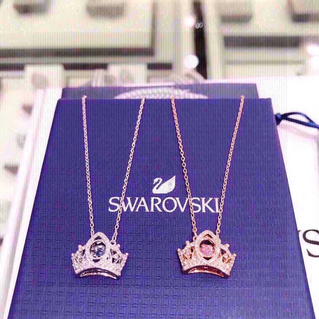 到货施华洛新款皇冠项链高级感会动的项