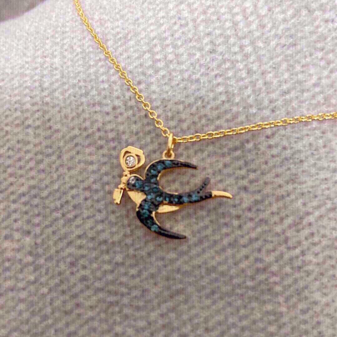 施华洛世奇新款塔罗系列含着金钥匙燕子