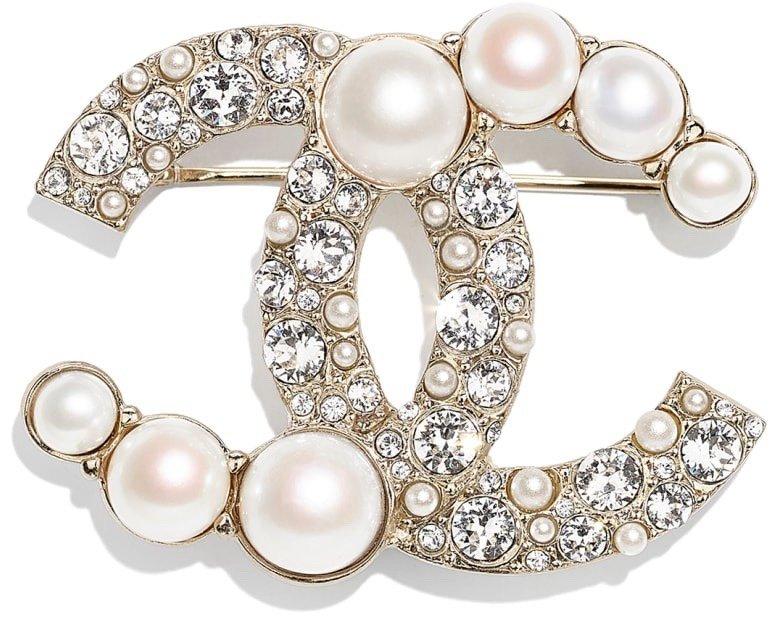 CHANEL小香珍珠双c胸针高端品质