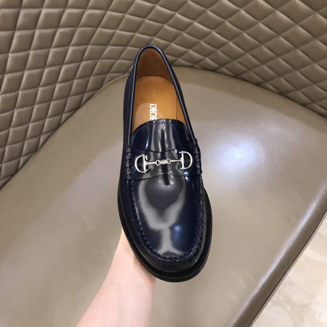 Dior男士商务休闲皮鞋鞋面进口牛皮