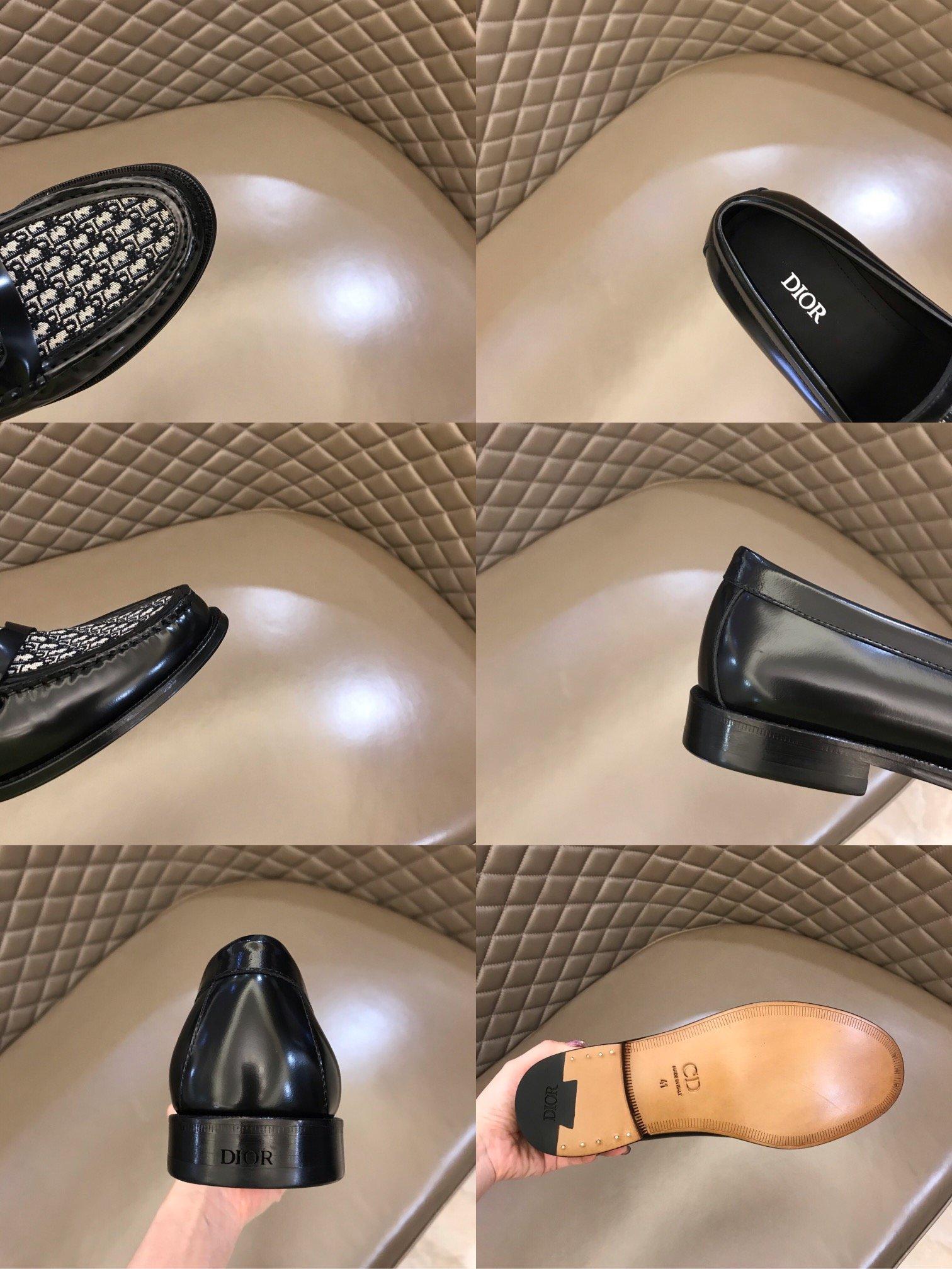 Dior男士商务休闲皮鞋鞋面进口帆布