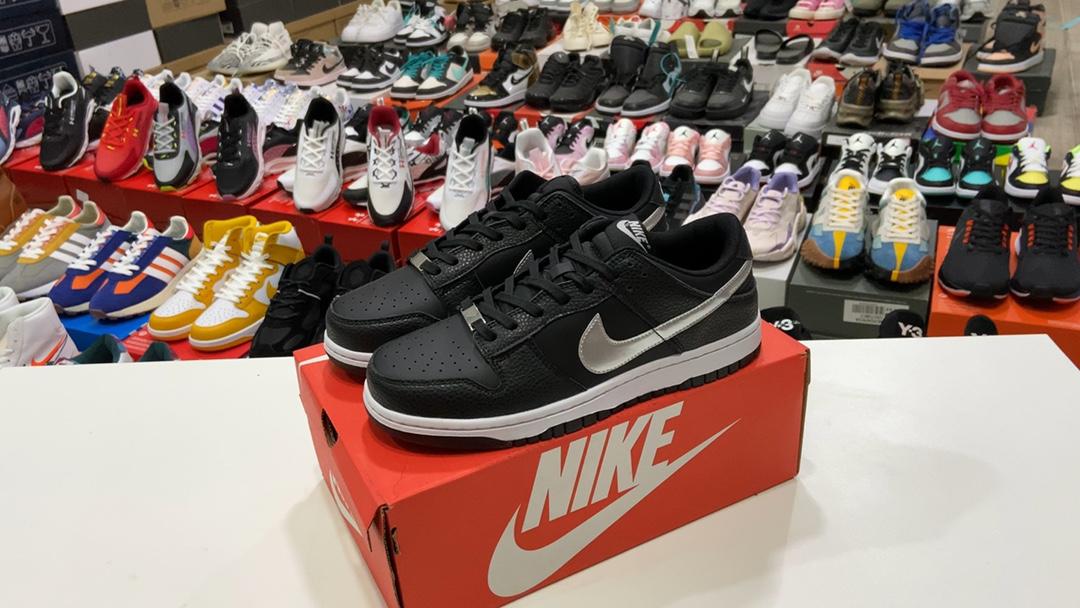莆田鞋版本170耐克NBAxNikeDunkLowGS黑银7
