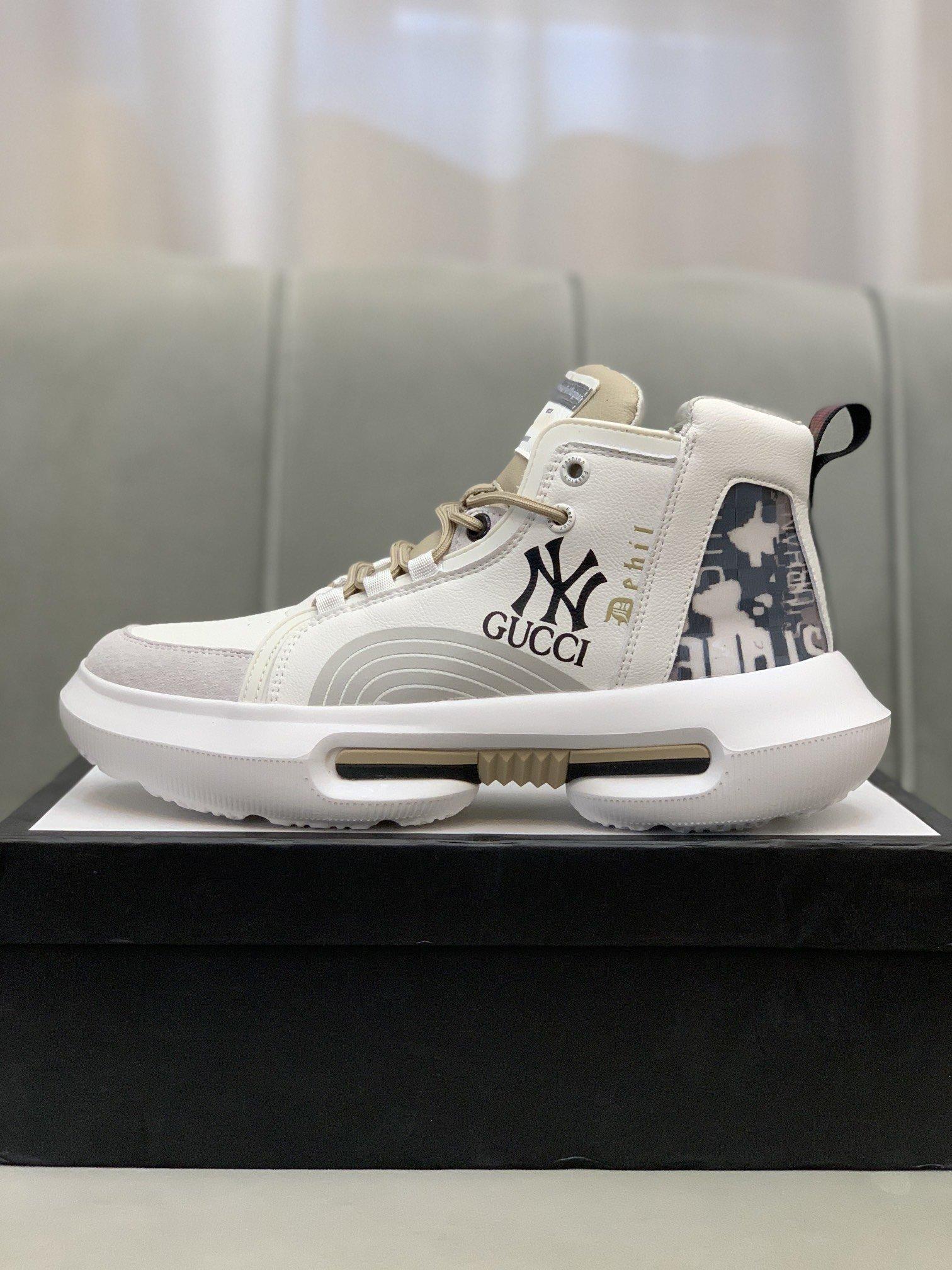 Gucc*古奇*高帮休闲鞋正码码数: