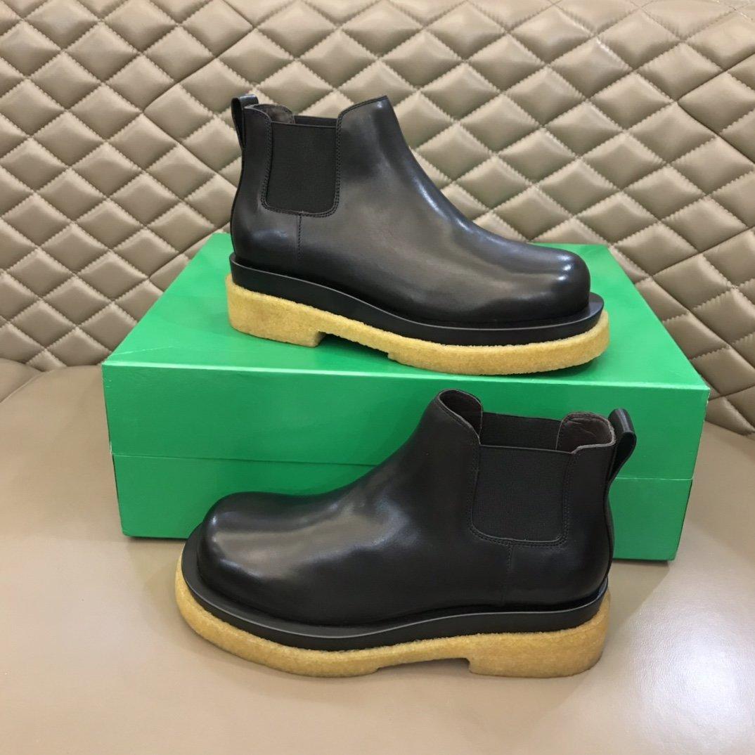 BV秋冬情侣款LUG短靴短靴原版开发