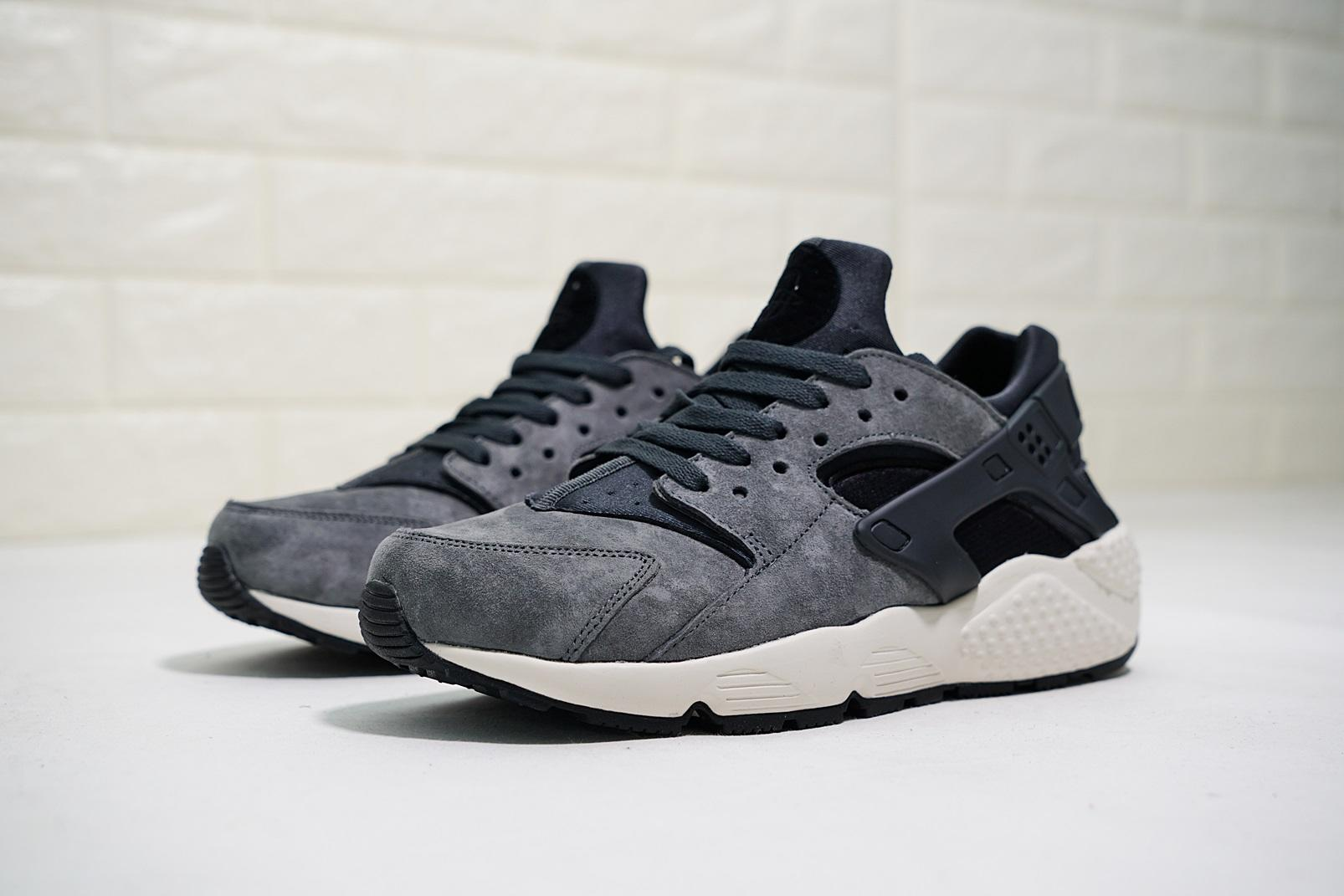 """7e32d61289630 ... Nike Air Huarache first generation Wallace classic wild casual sports  jogging shoes  """"skin dark gray """" 704980-016  New product real shot  💯  men s shoes ..."""
