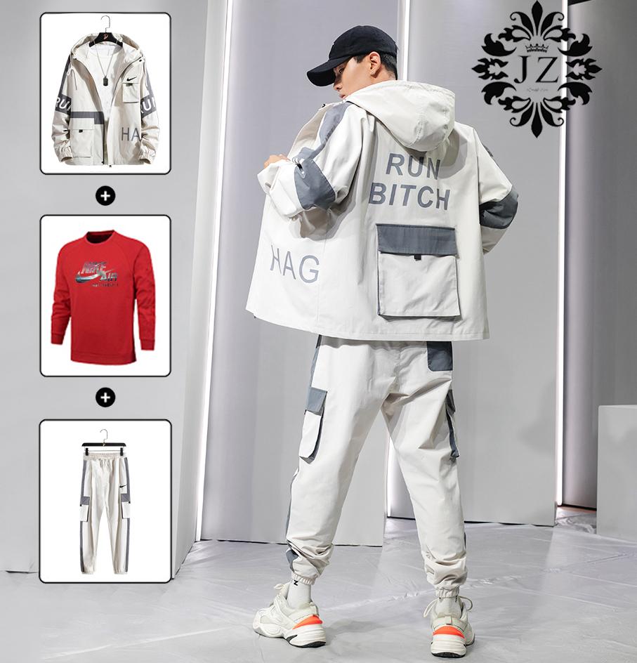 ? 主推 实物拍摄  P 355 三件套 P195工装套装 2019秋季新款Nike工装套装专柜同款同步更新!可单卖,可随意搭配,本季主打,货源充足,放心主推,高端品质,做工出色,上身效果很好。【品名】:套装【尺码】:M-4XL M/建议        高155-165 重85-100L/建议        高165-170 重100-115XL/建议      高170-175 重115-1302XL/建议    高175-180 重130-1503XL/建议    高180-185 重150-1704XL/建议    高185-190 重170-190.