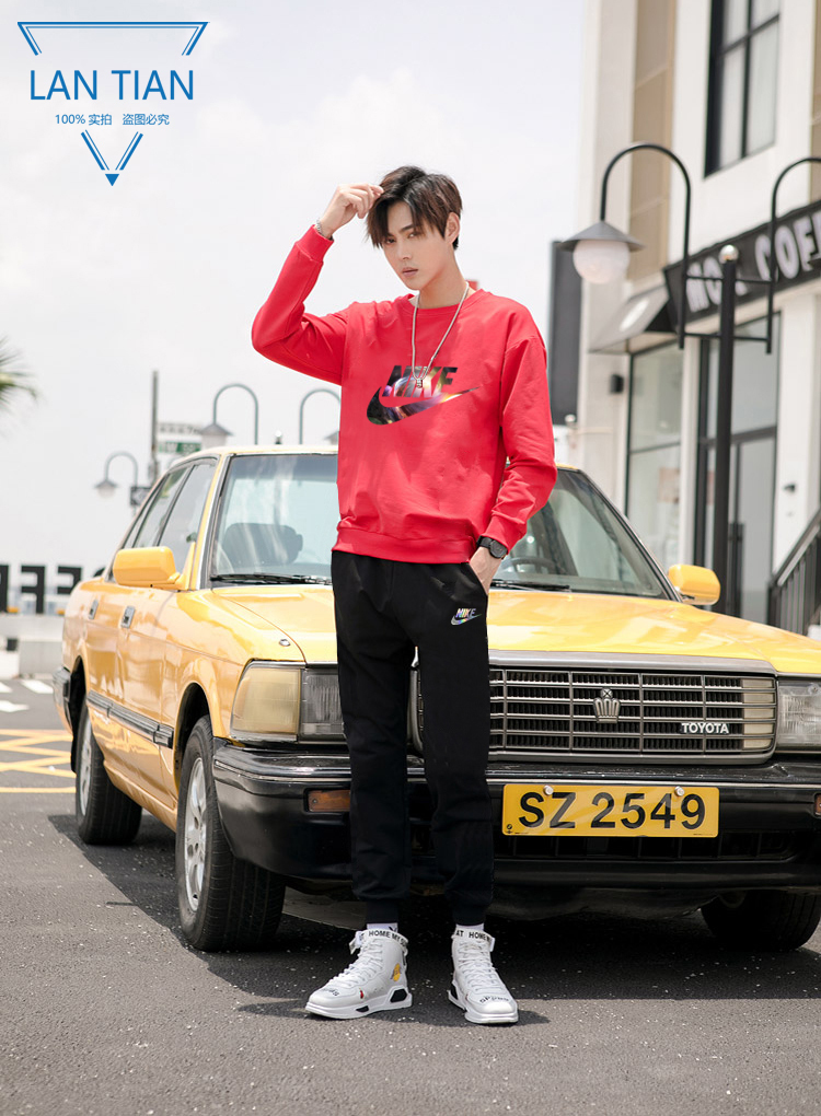 ?Crew Neck Set P220 [Nike] Couple Set? [True Standard Scannable Code] Preferred for physical stores and Taobao Tmall?Cotton high-end cotton fabric, comfortable and breathable, first-class touch