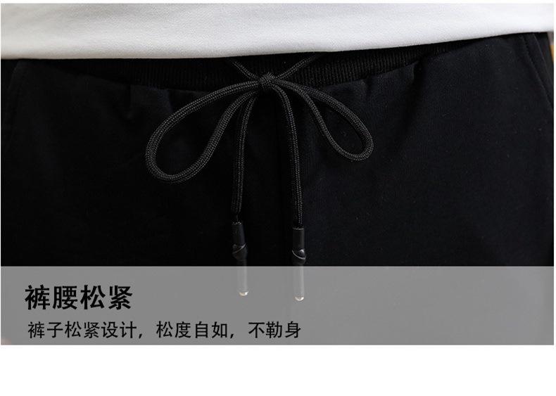 【100退货】长裤套装PF125 短裤套装PF115 Nike耐克冰瓷棉圆领短袖T恤 纯棉针织收脚长裤套装  纯棉针织五分裤套装尺码M-4X