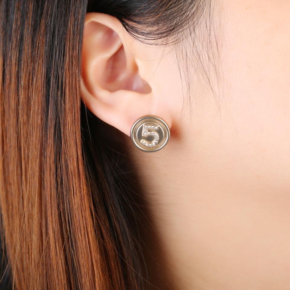 小香香奶奶耳环5字双c耳钉美就完了复