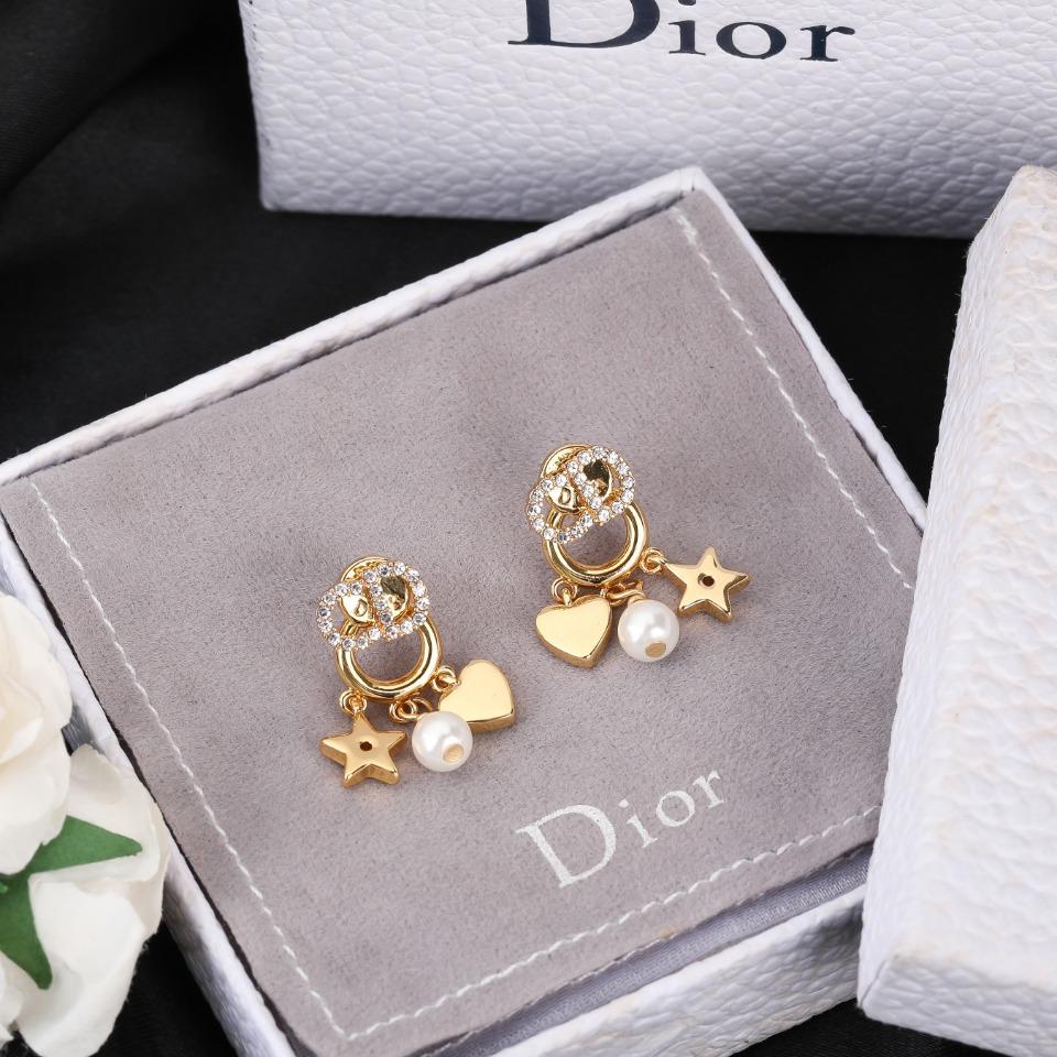DiorCD耳钉珍珠星星爱心耳环一定