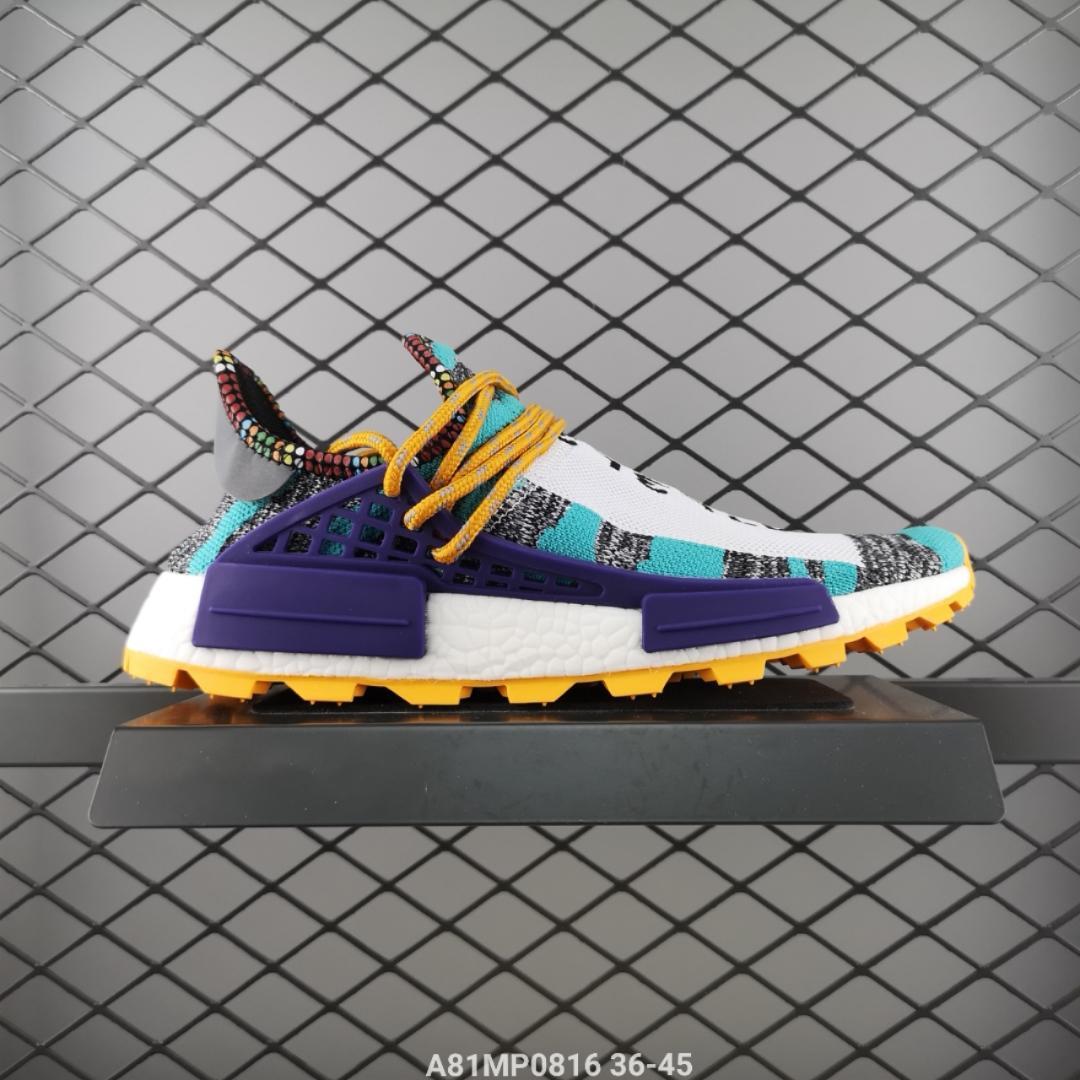 90e6d24078091 阿迪达斯Adidas Pharrell x BBC x NMD Human Race Trail 菲董联名运动休闲慢跑鞋Size 36-45   A81MP0816
